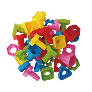 👑Nuts And Bolts Matching Toy Screw Nut Building Surface 40Pcs