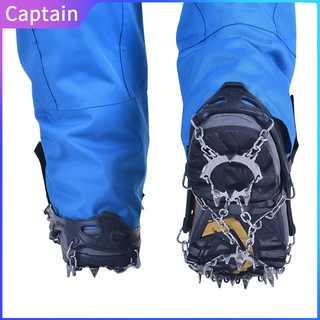 19-Tooth Crampons Non-Slip TPE Shoe Cover Outdoor Climbing Equipment Spikes At8607 Captain outdoor