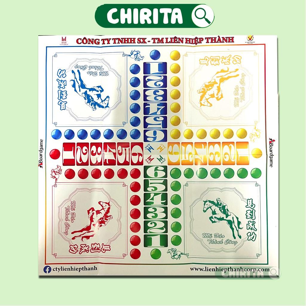 Cờ Tỷ Phú + Cờ Cá Ngựa Liên Hiệp Thành A+ CAO CẤP - Bàn Cờ Bằng Giấy, Boardgame, Cờ Tỷ Phú Cờ Đua Ngựa CHIRITA