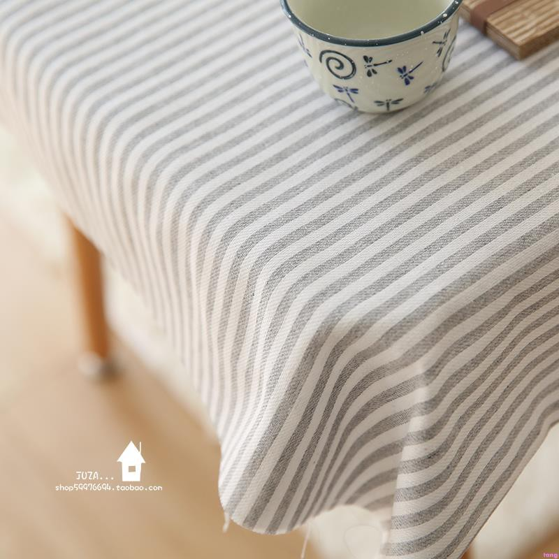 Foreign trade cotton and linen blended fabric Stripe Shirt Hanfu curtain tablecl
