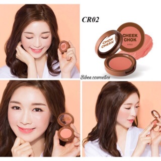 Má hồng dạng kem A pieu Cheek Chok màu CR02 cam đào đất thumbnail