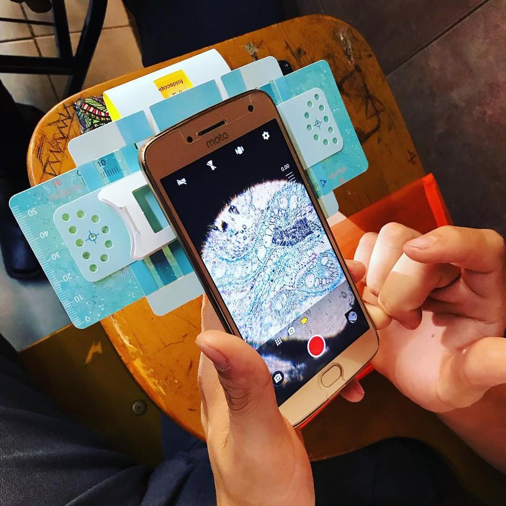 Kính hiển vi Foldscope FREESHIP cho học sinh