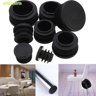 TRTN 10x Black Plastic Blanking End Caps Cap Insert Plugs Bung For Round Pipe Tube