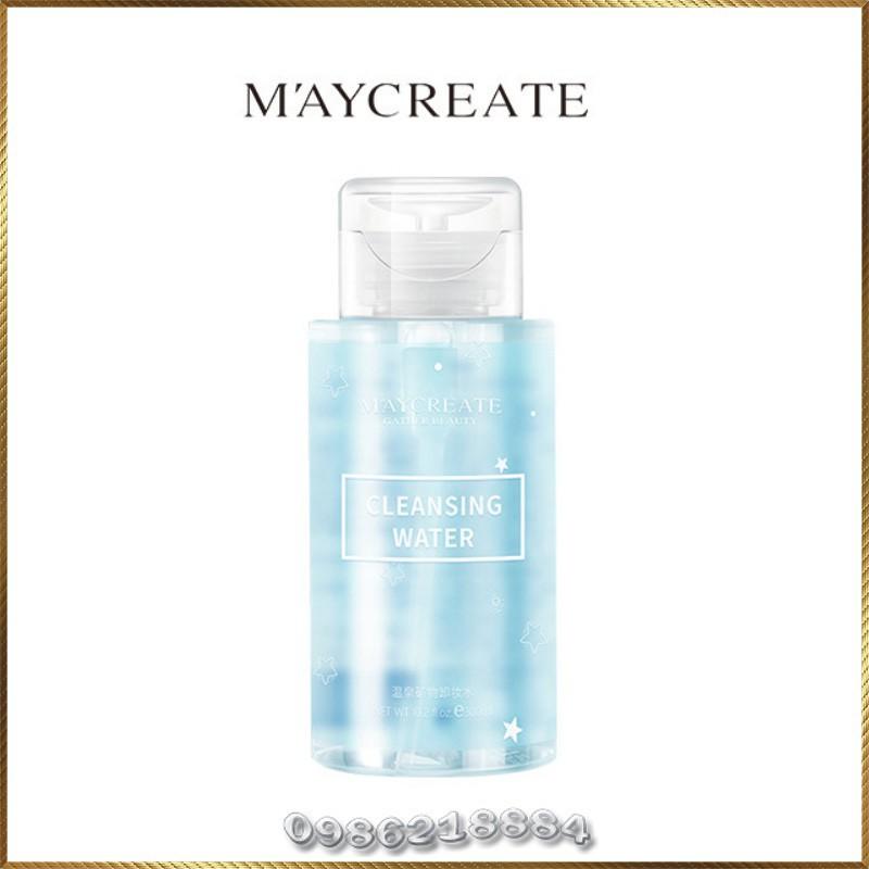 Nước tẩy trang ❤️FREESHIP❤️ Nước tẩy trang maycreate 300ml cho da dầu, da mụn