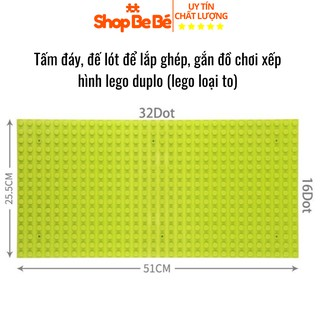 Tấm đáy, tấm đế lót , tấm nền base để gắn lắp ghép lego duplo đồ chơi xếp hình - base lego thumbnail