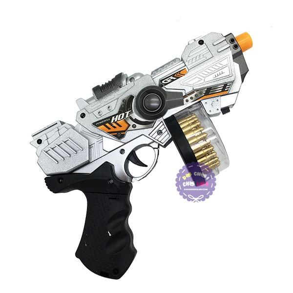 Đồ chơi súng máy ngắn ổ đạn xoay đèn Laser dùng pin có nhạc - 2782957 , 717720825 , 322_717720825 , 71000 , Do-choi-sung-may-ngan-o-dan-xoay-den-Laser-dung-pin-co-nhac-322_717720825 , shopee.vn , Đồ chơi súng máy ngắn ổ đạn xoay đèn Laser dùng pin có nhạc