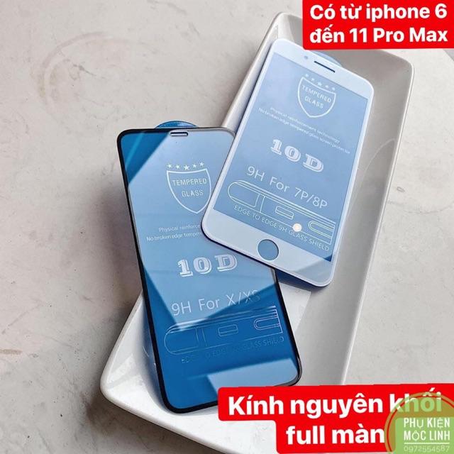 Kính cường lực 10D nền xanh full màn nguyên khối