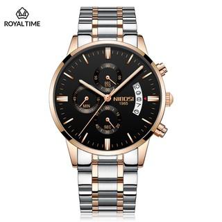 [Tặng vòng tay]Đồng hồ nam NIBOSI chính hãng NI2309.06S Fullbox dây đeo hợp kim sang trọng
