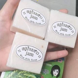 Xà Phòng Cám Gạo - Xà Phòng Trắng Da Thái Lan Jam Rice Milk Soap (Lẻ 1 bánh) thumbnail