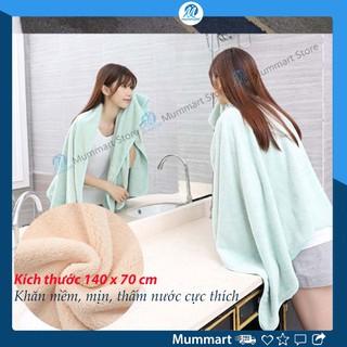 Khăn tắm lớn 140 x 70 xuất Hàn sợi bông, mịn, thấm hút nước tốt. Khăn tắm lớn cho bé sơ sinh – Mummart