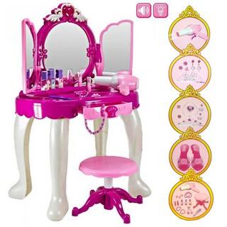 Bộ đồ chơi trang điểm mở cánh cửa đầy đủ bàn ghế và phụ kiện