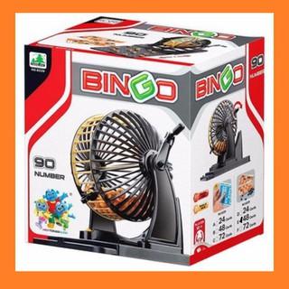 [ LỒNG QUAY INOX ] bộ đồ chơi Bingo Loto 90 số – lồng quay số 24 tờ dò