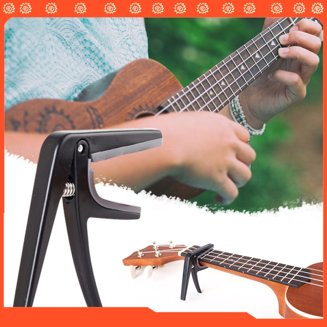 Professional Ukulele Capo Single-handed Quick Change Ukelele Capo Guitar Parts & Accessories