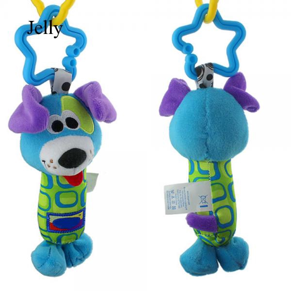 3 Pcs Baby Carriage Crib Bed Clip On Hanging Bell Plush Animal Toy Doll Set J592