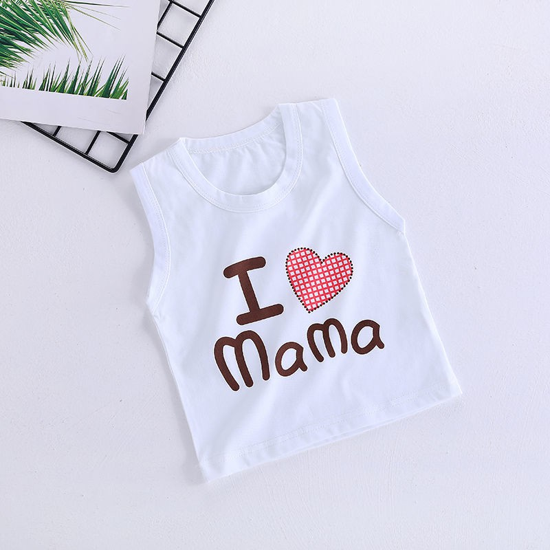 ÁO BA LỖ CHO BÉ TRAI BÉ GÁI MẪU I LOVE MAMA, PAPA