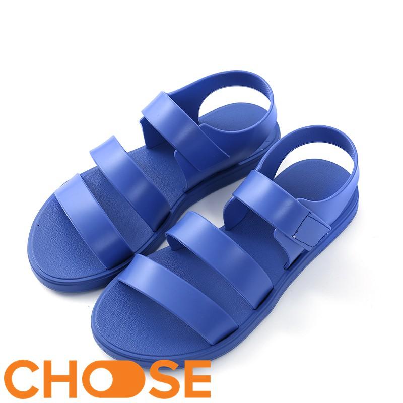 Giày Nữ Choose Đi Mưa Sandal 3 Quai Nhựa Chống Thấm Nước Cho Các Bạn Trẻ Mùa Mưa G18K5