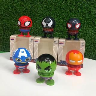Bộ 6 con Emoji lò xo Marvel Siêu Anh Hùng