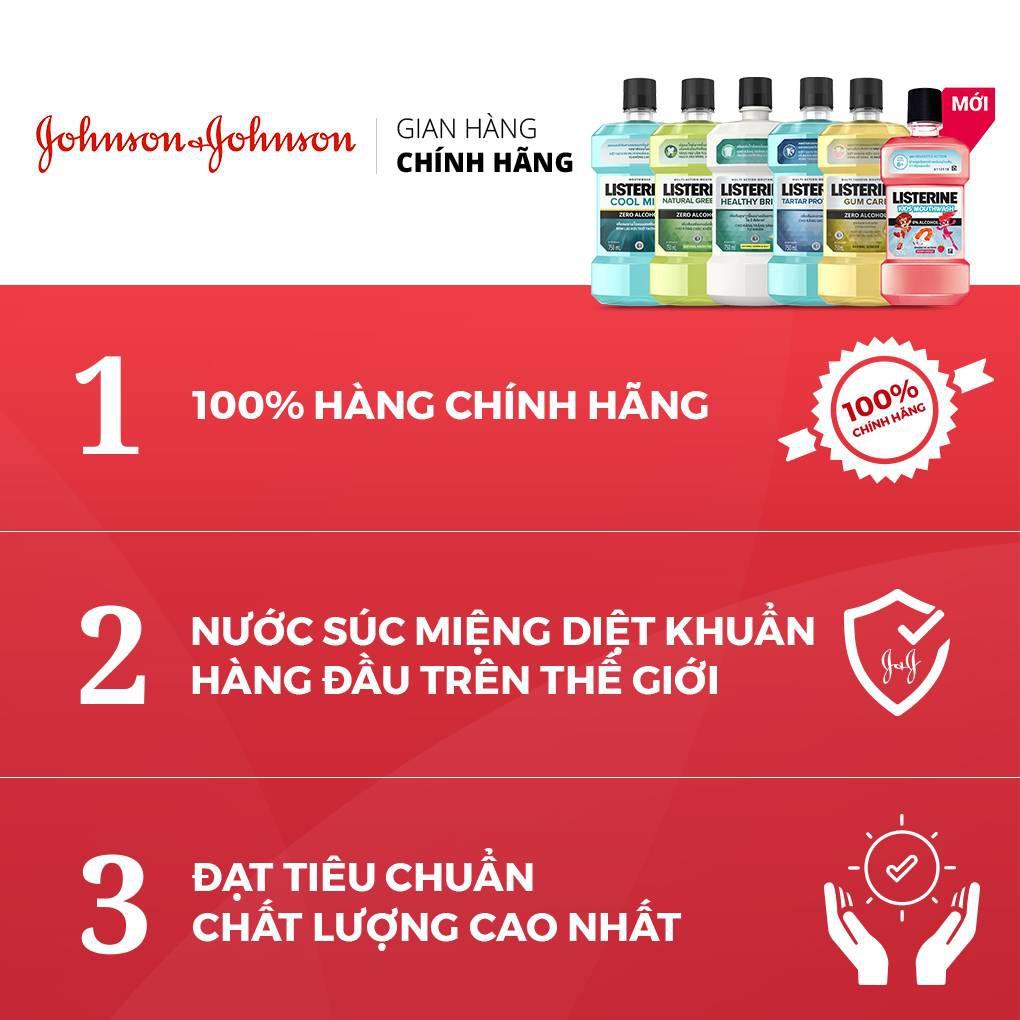 [Mã FMCGMALL giảm 8% đơn 250K] Nước Súc Miệng Listerine Gum Care Giúp Nướu Chắc Khỏe - Dung Tich 250ml-750ml