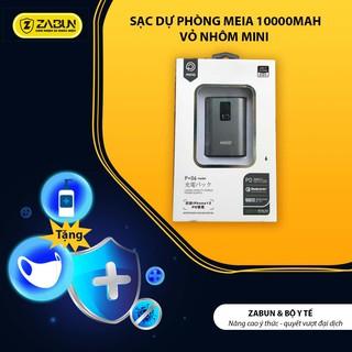 Sạc Dự Phòng Meia 10000mAh Sạc Nhanh, Pin Dự Phòng Hai Cổng USB, Vỏ Nhôm, Nhỏ Gọn Tiện Lợi Cho Xiaomi Samsung iPhone thumbnail