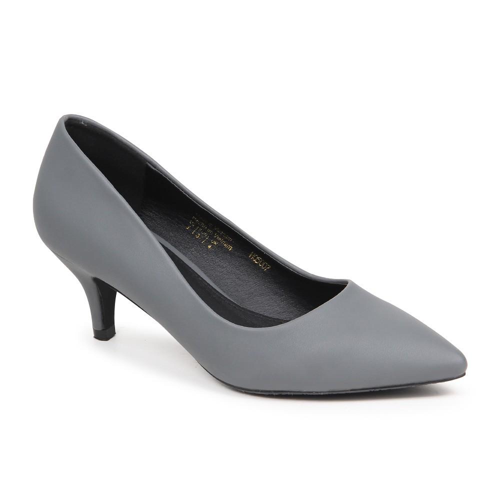 Giày cao gót basic gót nhọn H05007 - Xám