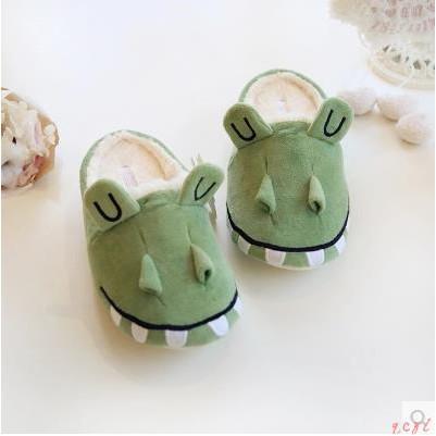 Cute cartoon crocodile couple cotton slippers men and women