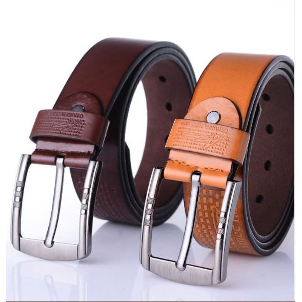 Bộ đôi thắt lưng nguyên tấm nam cao cấp khóa kim KK2 ( nâu+ vàng) - 9969202 , 779758774 , 322_779758774 , 139000 , Bo-doi-that-lung-nguyen-tam-nam-cao-cap-khoa-kim-KK2-nau-vang-322_779758774 , shopee.vn , Bộ đôi thắt lưng nguyên tấm nam cao cấp khóa kim KK2 ( nâu+ vàng)