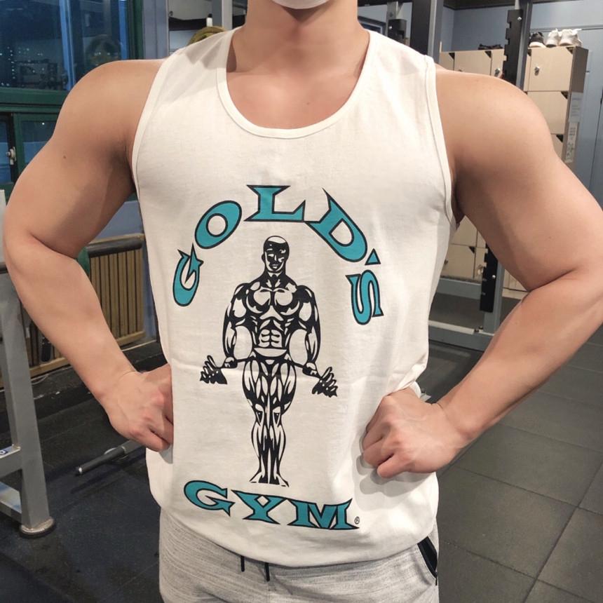 Áo Ba Lỗ Tập Gym Dáng Rộng Vải Cotton Thời Trang 2020 Cho Nam