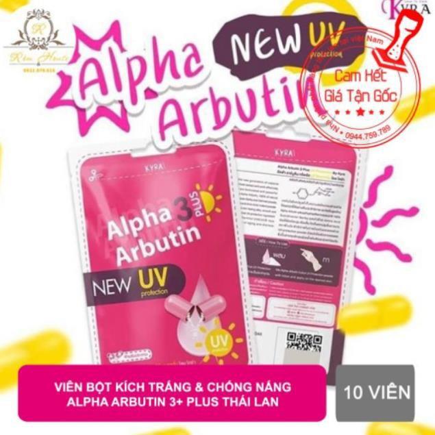 [MẪU MỚI] Vỹ 10 viên Kích Trắng Alpha Arbutin chống nắng