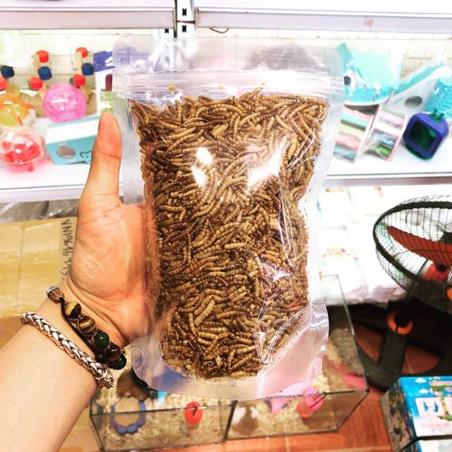 [RẺ NHẤT HÀ NỘI] Sâu khô super worm - siêu ngon- siêu dinh dưỡng bịch to BÁN CHẠY