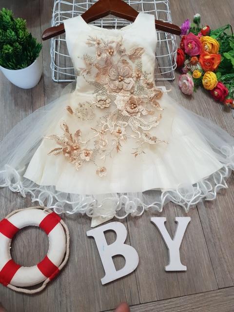 Váy công chúa nhí chi bé gái 6-15kg hàng QUẢNG CHÂU CAO CẤP