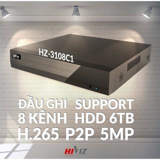 Đầu ghi hình Hiviz - HZ-3108C1 8 kênh 5MP, hỗ trợ camera Analog TVI CVI AHD IP - Chính hãng MAI HOÀNG thumbnail
