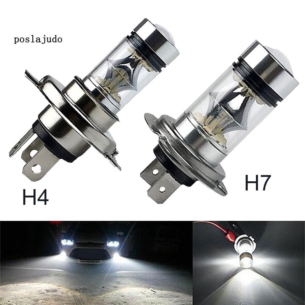 GLK_100W H4 H7 Super Bright 20SMD LED Car Daytime Running Driving Fog Light Lamp