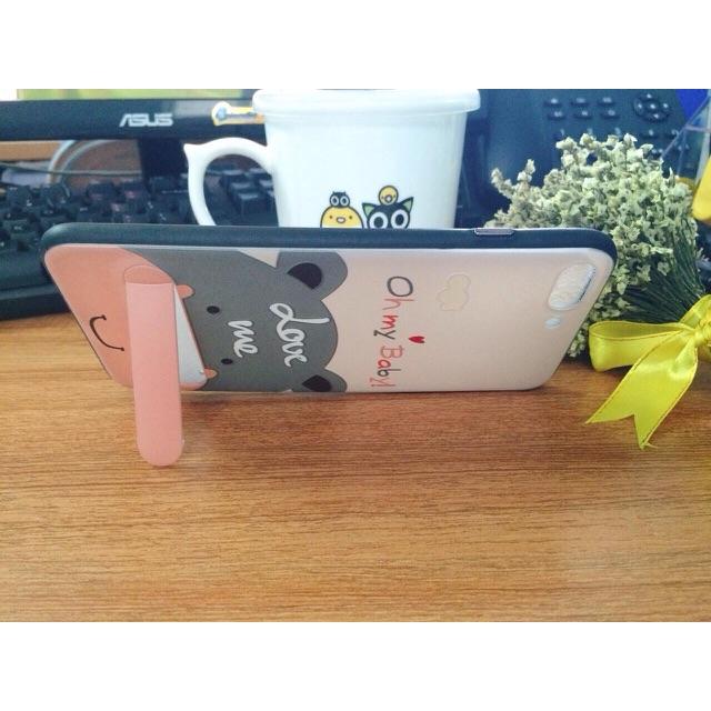 Ốp 3D cho iPhone 6/6s/6P/7/7P có chống nghiêng tiện lợi