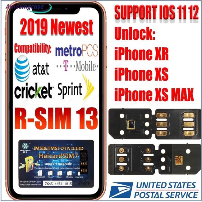 RSIM 13 Nano Unlock Sim Turbo Card fits iPhone XS XS Max XR GPP R