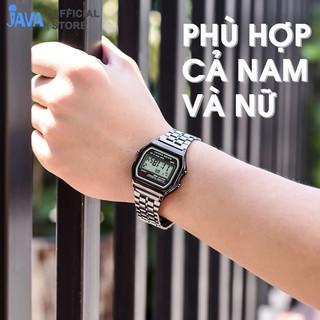 [LOẠI 1 ĐẸP ] Đồng hồ điện tử dây kim loại nam nữ mặt vuông - Chống xước - Chống nước - Sang trọng