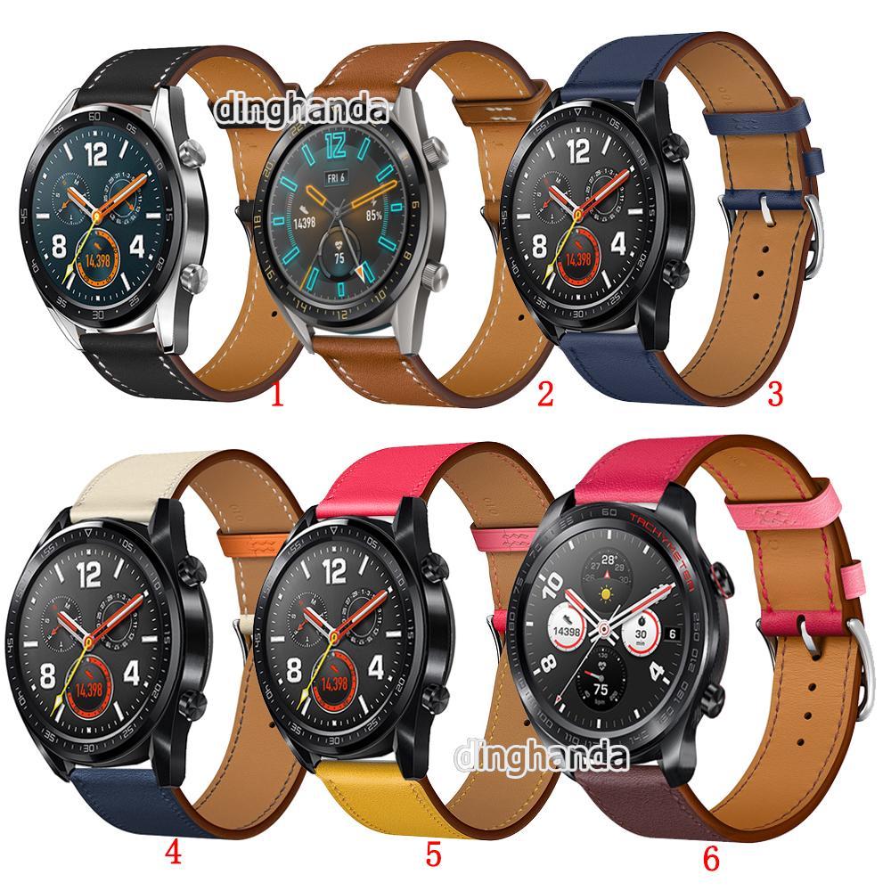 Dây đeo bằng da cho đồng hồ Huawei Watch GT GT2 GT 2 46mm 42mm GT2e Honor Watch thumbnail