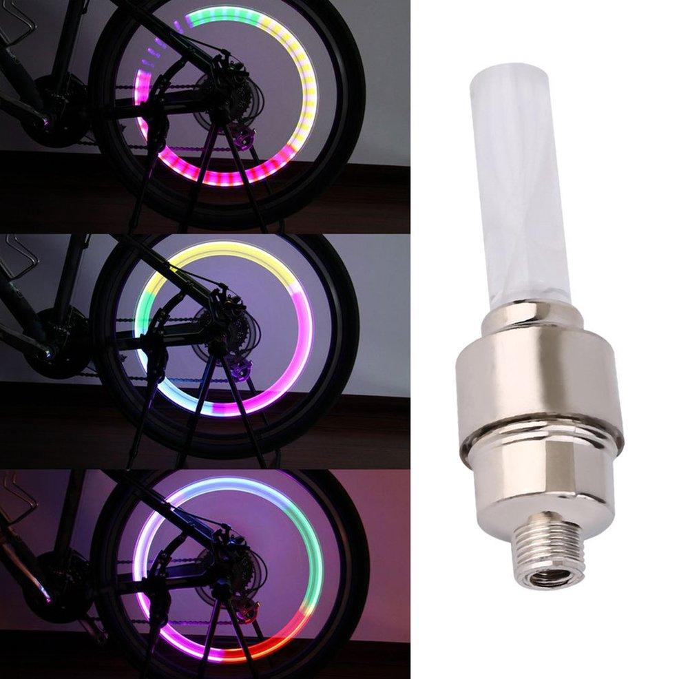 Nắp van bánh xe đạp có đèn LED nhiều màu sắc độc đáo cá tính