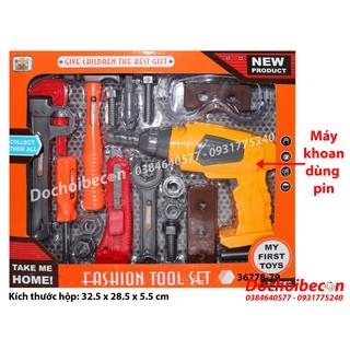 Bộ đồ chơi dụng cụ sửa chữa 36778-79 – 19 chi tiết – Dùng pin