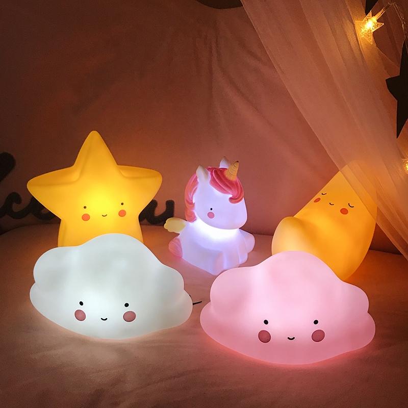 Đèn ngủ kiểu dáng sáng tạo dễ thương trang trí phòng cho bé