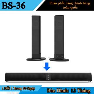 Loa Thanh Soundbar Gaming BS-36 Hỗ Trợ Bluetooth, USB, Thẻ SD, Đài FM, Âm Thanh Vòm 3D Dùng Cho Máy Vi Tính Pc, Tivi