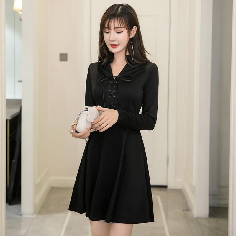 Đầm dài tay cổ chữ V xinh xắn thời trang theo phong cách Hàn Quốc dành cho nữ - 22889010 , 2663451115 , 322_2663451115 , 334900 , Dam-dai-tay-co-chu-V-xinh-xan-thoi-trang-theo-phong-cach-Han-Quoc-danh-cho-nu-322_2663451115 , shopee.vn , Đầm dài tay cổ chữ V xinh xắn thời trang theo phong cách Hàn Quốc dành cho nữ