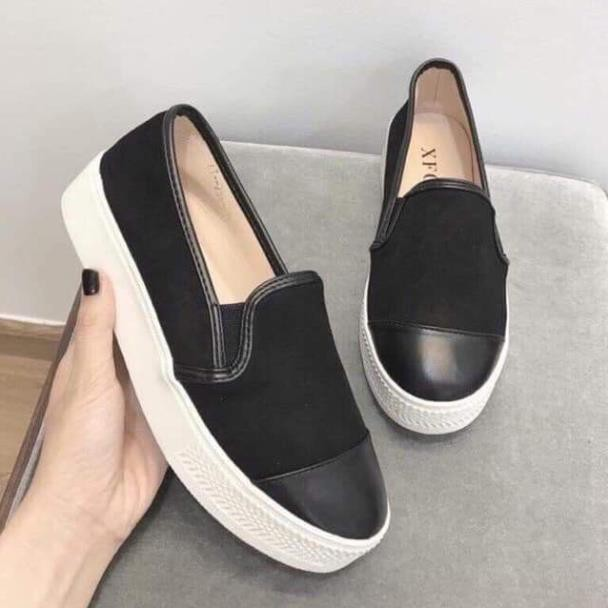 Giày lười giày slipon nữ da pha da lộn [GIÁ HỦY DIỆT]9