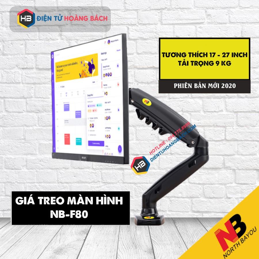 [Mới nhất tải trọng 9Kg] Giá treo màn hình máy tính F80 - Xoay 360 độ - Hàng nhập khẩu