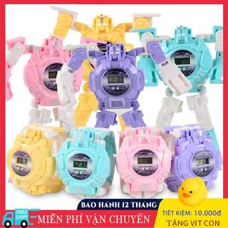 Đồng Hồ Điện Tử Biến Hình Robot Cho Bé, Đồ Chơi Cho Bé thumbnail