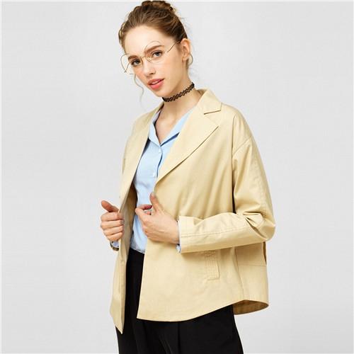 GIORDANO WOMEN Canvas casual blazer  91377650