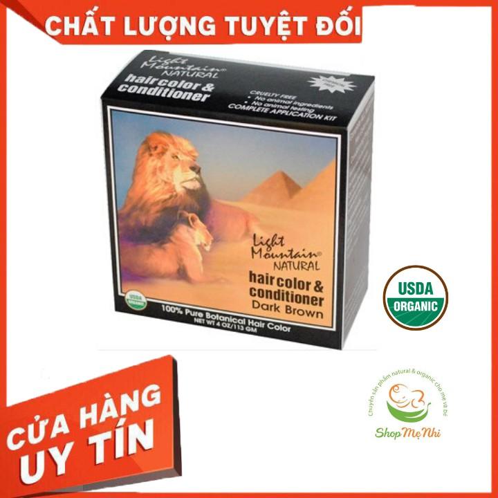 [USDA] Bột nhuộm tóc henna hữu cơ Light Mountain Natural..