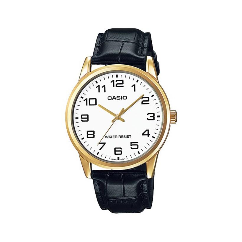 Đồng hồ nam Casio chính hãng dây da MTP-V001GL-7BUDF Anh Khuê