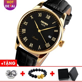 Đồng hồ nam dây da kính khoáng cường lực SKMEI BW015 - Boss Watches