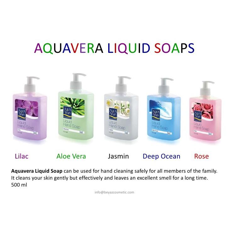 Nước rửa tay dưỡng chất Aquavera 500ml