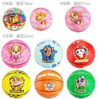 Wangwang team small ball children's basketball No. 3, No. 5 baby patting ball kindergarten special elastic ball toys